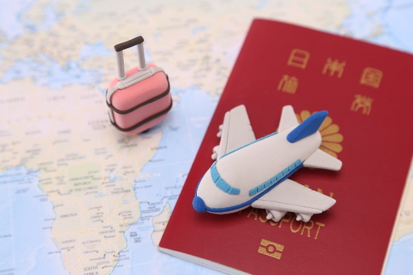 Airplane of the world map and the Clay Art