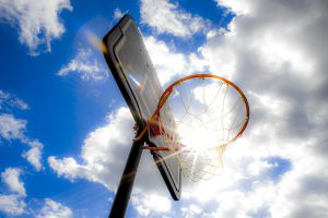 The sky and the basket goal