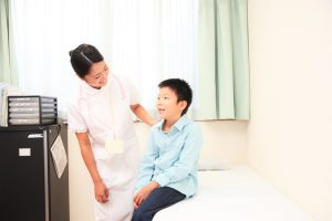 Pediatric nurse and children