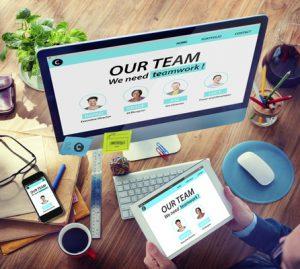 Man Working Computer Organization Team Building Solution Concept