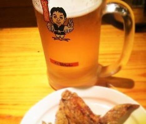 ビールと手羽先のから揚げBeer Fried chicken of the wing