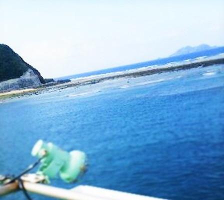 沖縄本島から渡嘉敷島へ向かう船からの風景 Scenery from a ship toward the Tokashiki Island from Okinawa Island