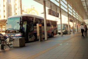 高速バス乗り場Express bus platform