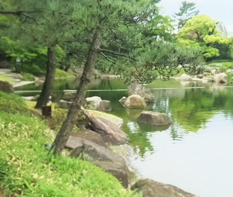 徳川園池の風景Sono Tokugawa Scenery of the pond
