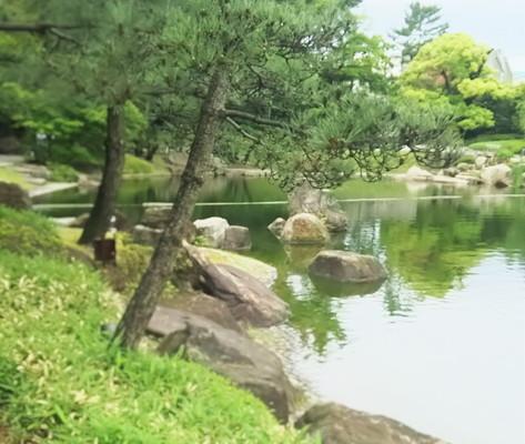 徳川園池の風景Sono Tokugawa Scenery of the pond