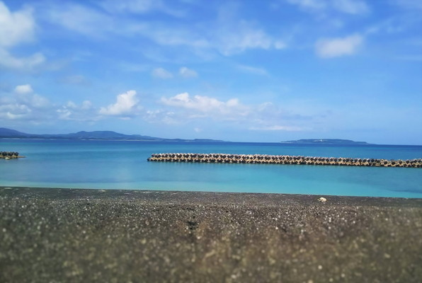 沖縄海沿い The Okinawa seashore