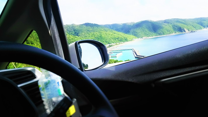 車窓から見える海の景色 Seascape to see from the car window