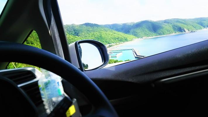 車窓から見える海の景色 Seascape to see from the car window