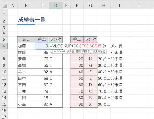 【Excel】ランキング上位の名前や商品名を表示させたい!~エクセル関数「RANK」+「VLOOKUP」(ブイルックアップ)