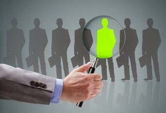 Recruitment and job search concept for choosing the right people and human resources